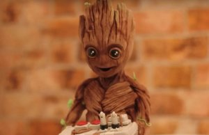 Baby Groot Chocolate Sculpture