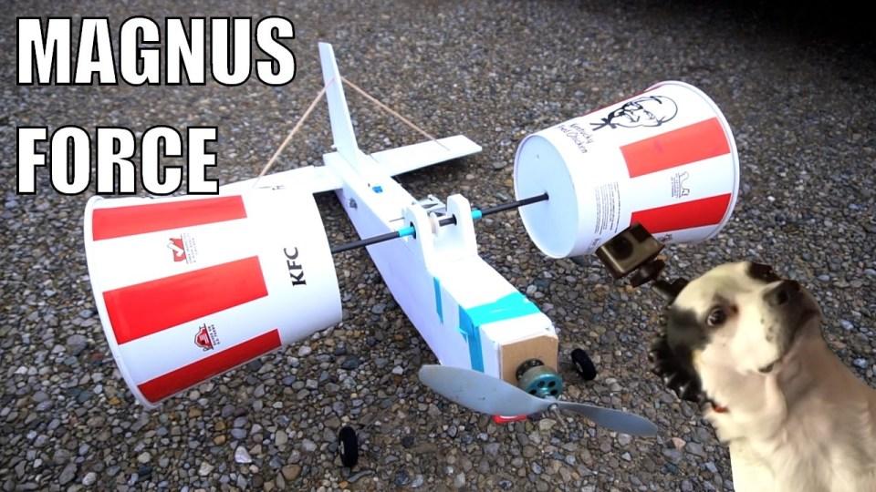 Remote-Controlled KFC Bucket Airplane