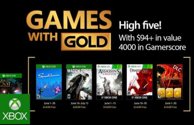 Free Xbox Gold Games For June 2017