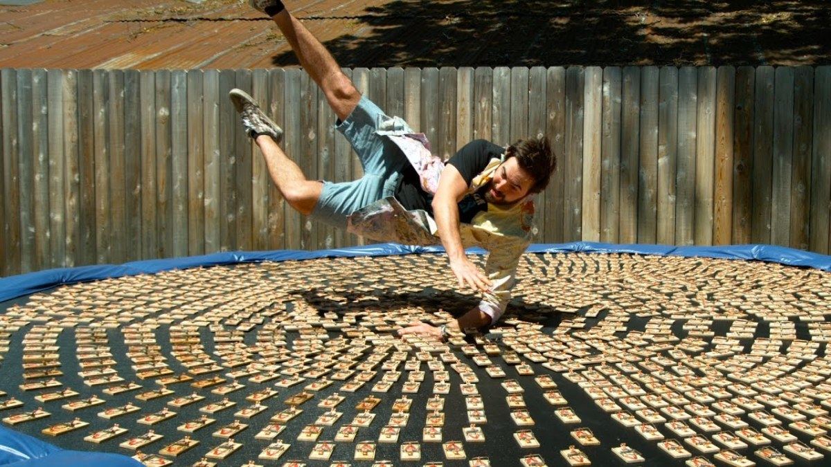 The Slow Mo Guys Dives Onto 1,000 Mousetraps in Hyper Slow Motion