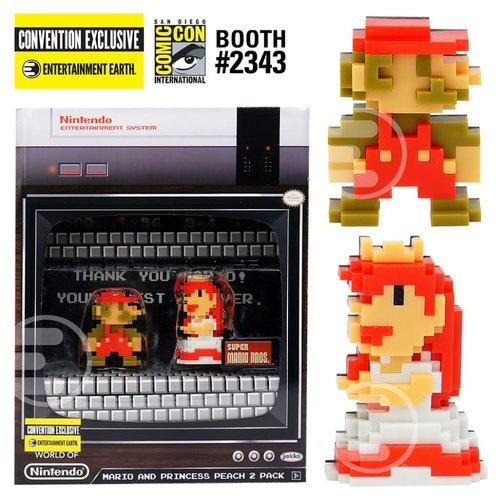 Nintendo 8-Bit Mario and Princess Peach