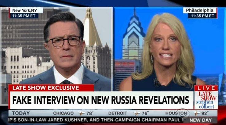 Colbert's Fake Kellyanne Interview