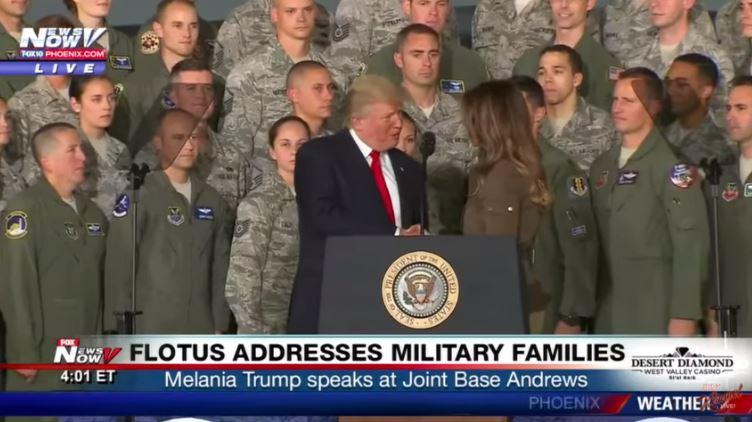 Donald Trumps handshake with Melania