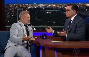 Graham Norton and Stephen Colbert