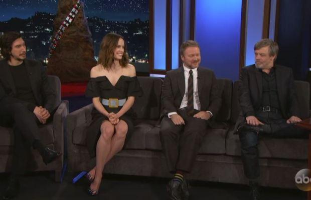 The Cast Of Star Wars The Last Jedi On Jimmy Kimmel Live Fizx