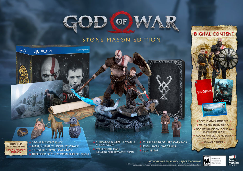 God Of War PS4's Collector's Edition Revealed, Loaded With Statue of Kratos And More