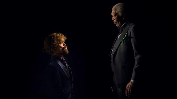 Peter Dinklage and Morgan Freeman