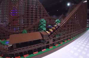 The World's Largest LEGO Wooden Roller Coaster