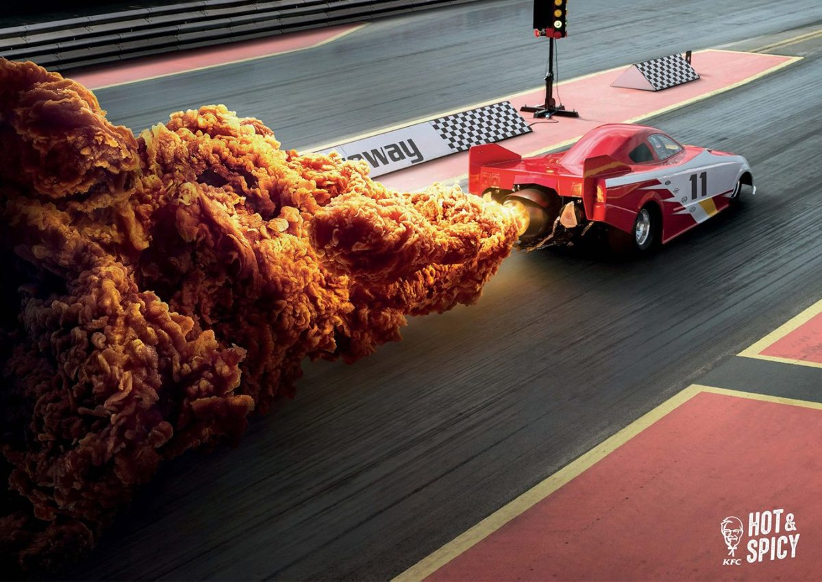 Smart KFC Hong Kong Ad Campaign Uses Fried Chicken To Duplicate Fiery Explosions