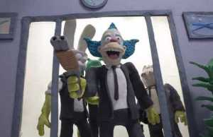 Simpsons Characters Recreate a Reservoir Dogs Bank Robbery Scene in Dark Claymation Short