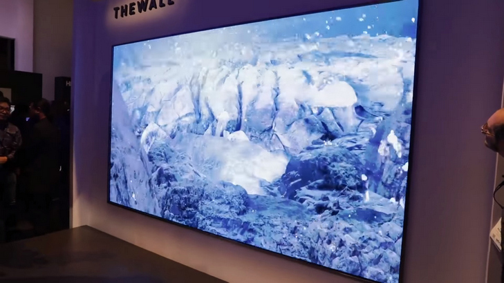 """Samsung's 146 inch Television """"The Wall"""""""