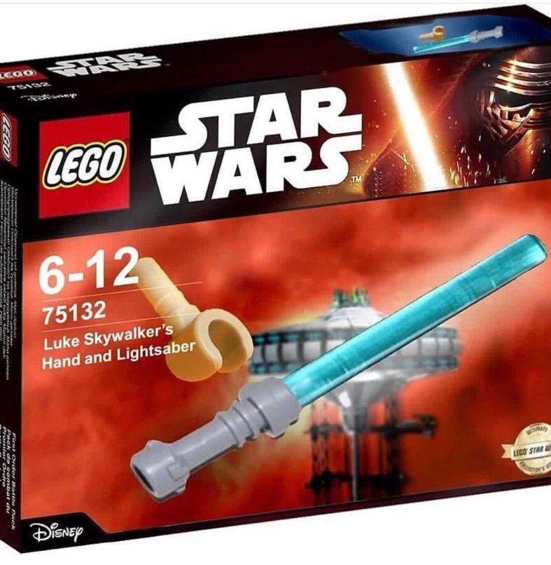 LEGO Luke Skywalker's Hand and Lightsaber