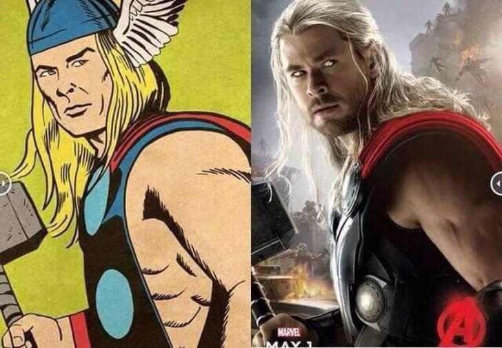 thor comic vs movies