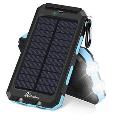 Hiluckey Solar Charger 10000mAh Camping Gear