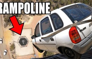 dropping-a-car-onto-a-trampoline-mark-rober