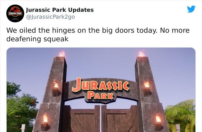 Jurassic Park Parody Account