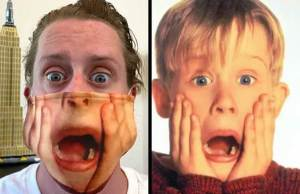 surprised face from Home Alone