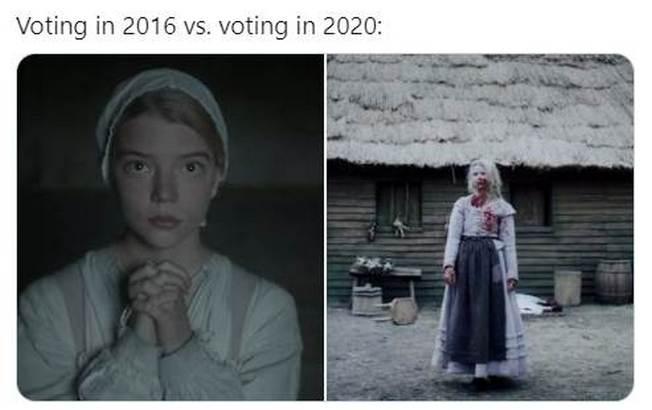 Voting in 2016 Vs. Voting in 2020