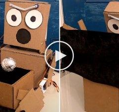 Cardboard Robot Magician