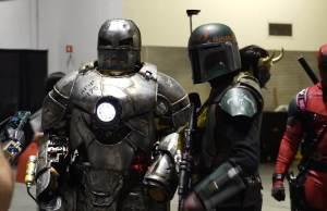 Adam Savage in an Iron Man Mark 1 Suit