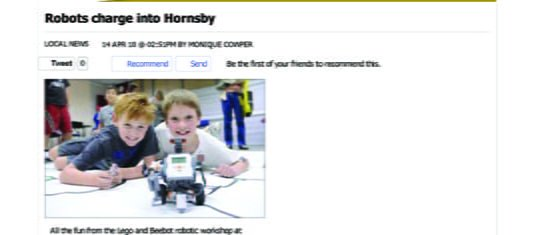 2010 Robots charge into Hornsby - Local News - News - Hornsby _ Upper North Shore Advocate
