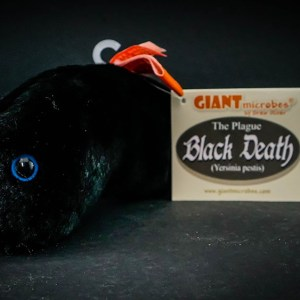Giant Black Death plush toy!