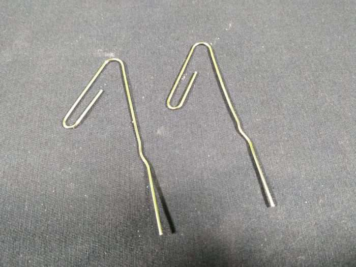 Make a Simple Motor - bend the two paperclips as shown