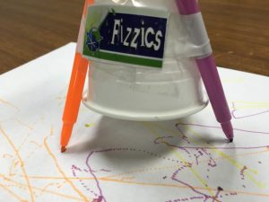 Make a scribblebot science experiment - making designs on paper