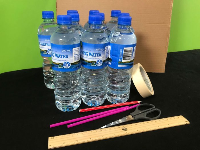Make a square wheel car science experiment - materials needed
