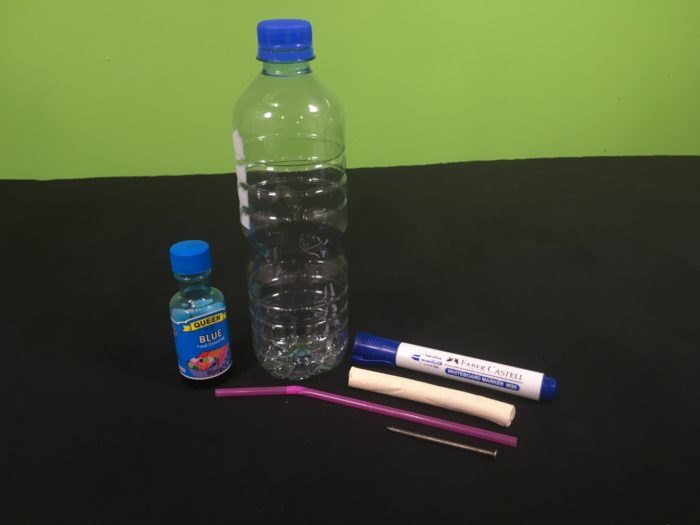 Make your own Thermometer Science Experiment - setup_materials