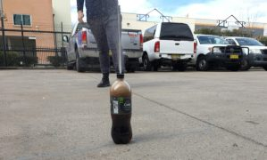 Mentos and diet coke science experiment - diet coke and mentos reacting