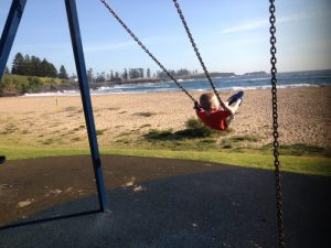 Piaget pendulum experiment - chair swing at the beach