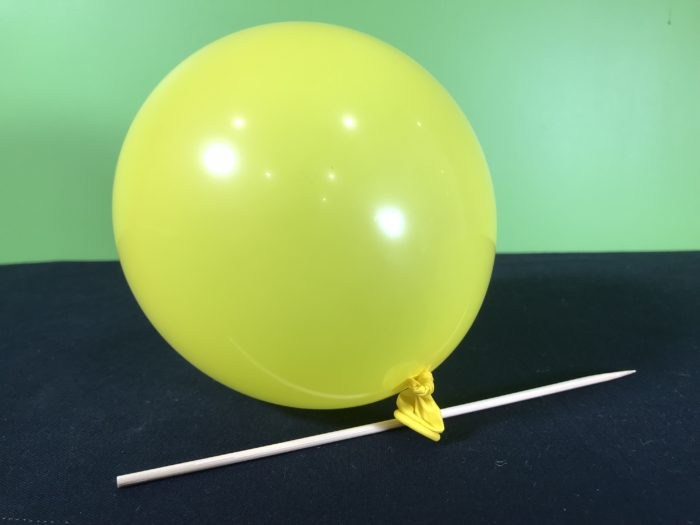 Skewer a balloon science experiment - materials needed