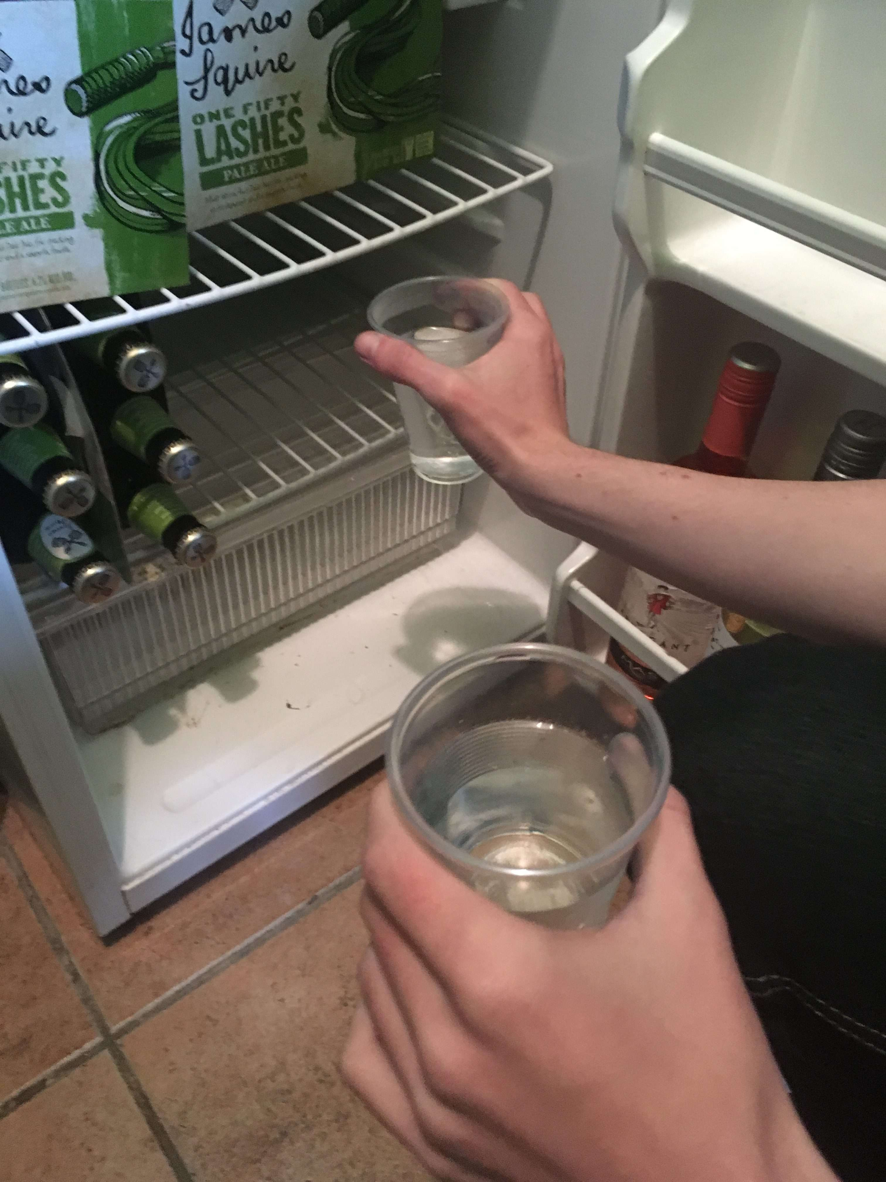 What freezes first, hot or cold water Science Experiment - putting water in freezer