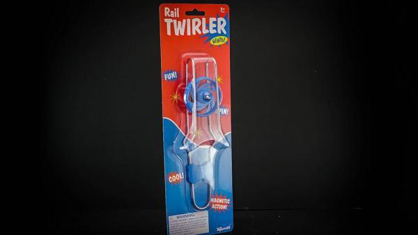 Magnetic rail twirler