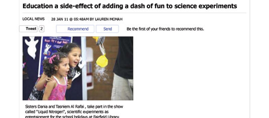 2011 Education a side-effect of adding a dash of fun to science experiments - Local News - News - Fairfield Advance