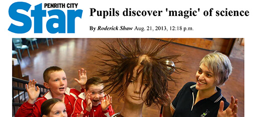 2013 Penrith City Star - Pupils discover magic of science with Holly