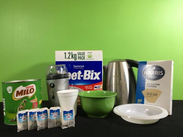 Detect Iron in Food with tea Science Experiment - setup_materials