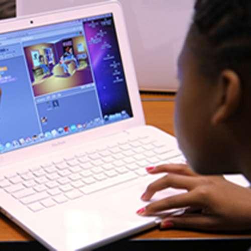Kids using the scratch coding platform