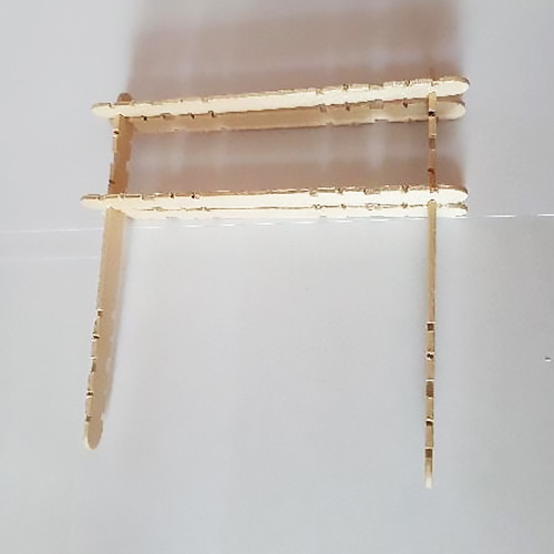 Step 3 with five paddle pop sticks connected