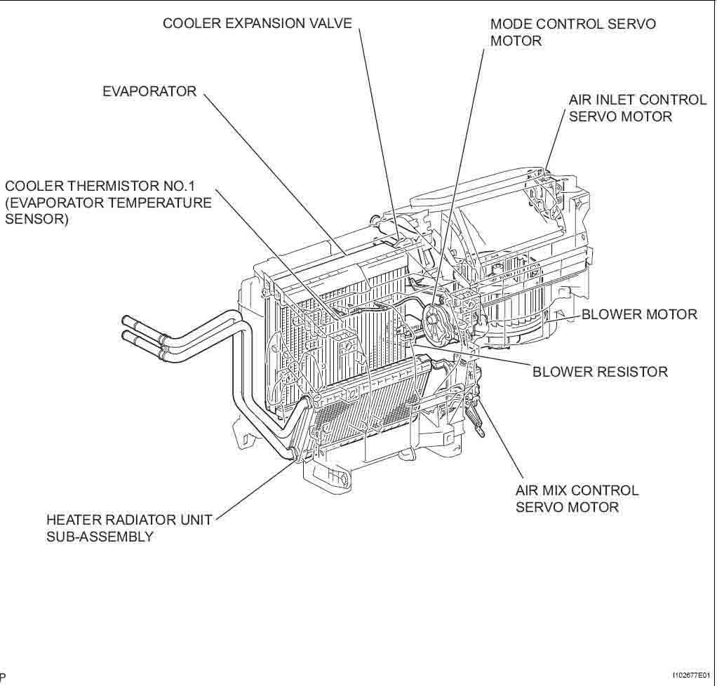2010 Toyota Corolla Parts Diagrams Heater