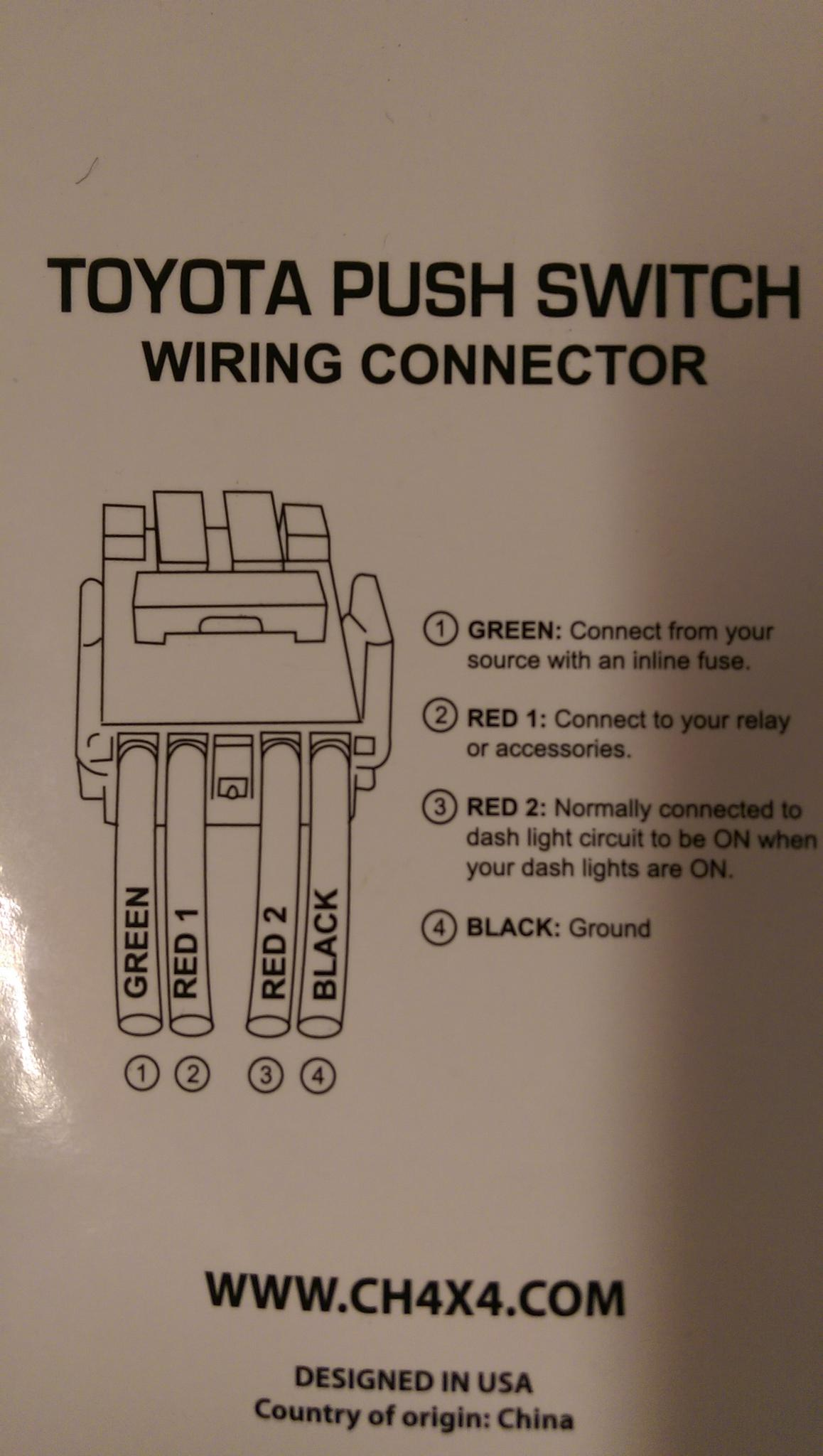 mictuning push switch wiring diagram 2006 ford e350 radio need help button light fro lid