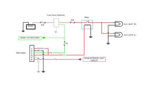 OEM AUX Light Switch Diagram  Toyota FJ Cruiser Forum