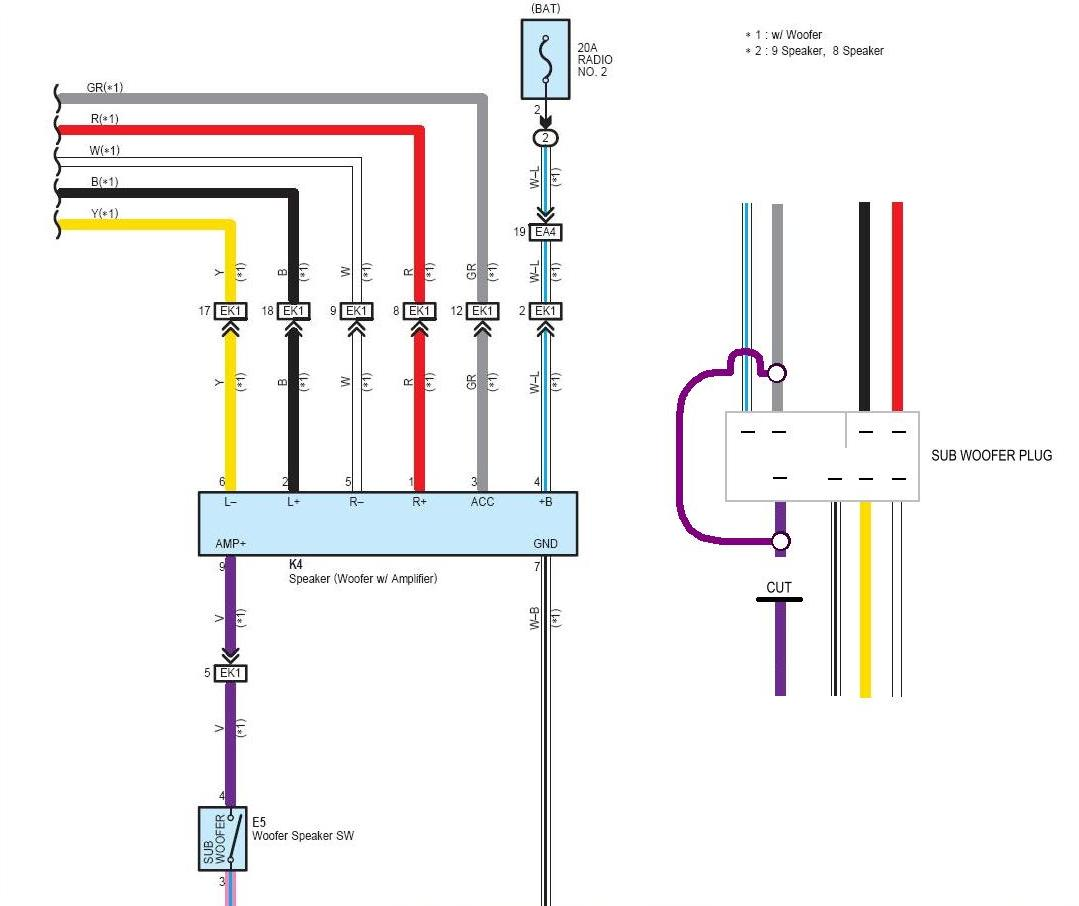wiring diagram for subs what does nca mean on a fj cruiser subwoofer 35