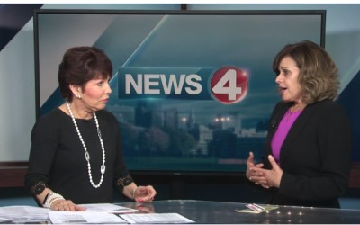 Mary Travers Murphy on News 4 discussing domestic violence