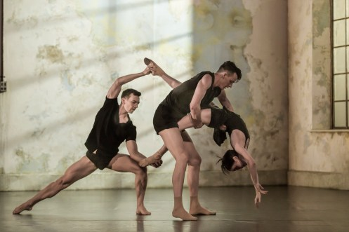 Sydney Dance Company's Frame of Mind featuring Todd Sutherland, Sam Young-Wright and Jesse Scales. Photograph by Peter Greig