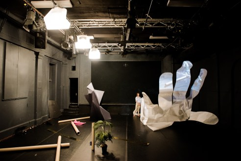 "Sarah Aiken's ""SET"" at Dancehouse. Photograph by Gregory Lorenzutti"