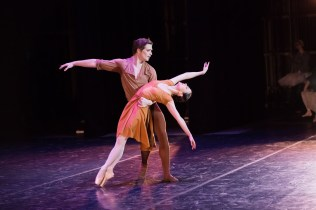 "Harrison James and Jillian Vanstone in Rudi van Dantzig's ""Four Last Songs."" Photograph by Karolina Kuras"