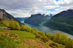 View from Nedbergo Mountain Farm above the Aurlandsfjord