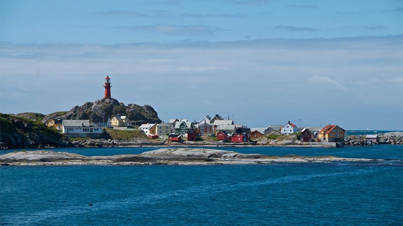 FJORDS NORWAY - ONA ISLAND AND ONA LIGHTHOUSE
